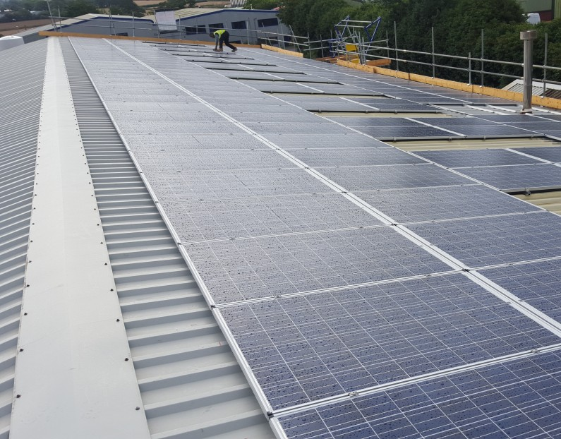 50kW PV array for Van Guard Accessories Ltd