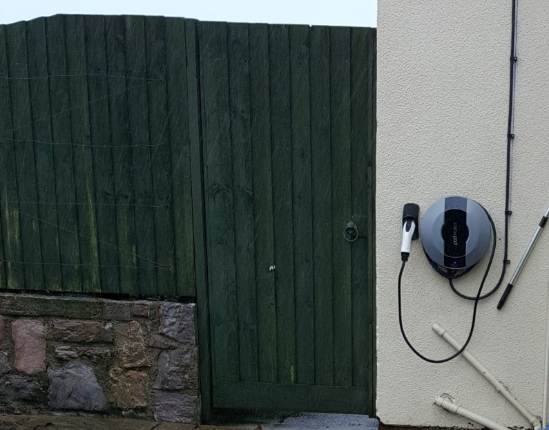 Domestic EV charge point, Exeter
