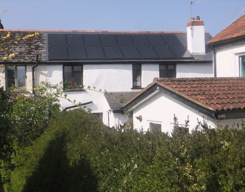 4kW in-roof domestic PV, Sampford Peverell